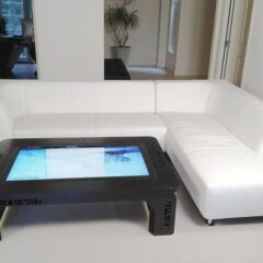 High-end furniture: Multi touch hardwood table