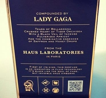 Lady Gaga box perfume