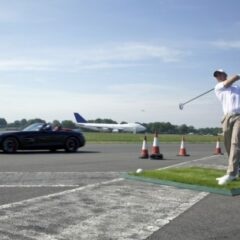 Worlds' Farthest Golf Shot Caught In A Moving Car