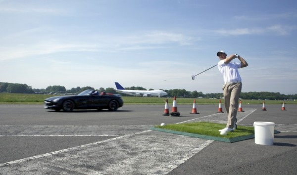 SLS AMG + 178MPH Golf Ball World's farthest golf shot (1)