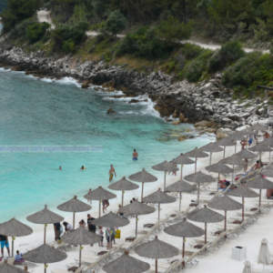 Marble Beach in Thassos Island