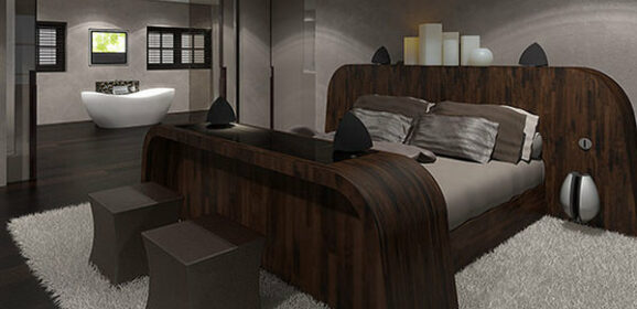 Luxury High-Tech Bed Operated By Smartphone