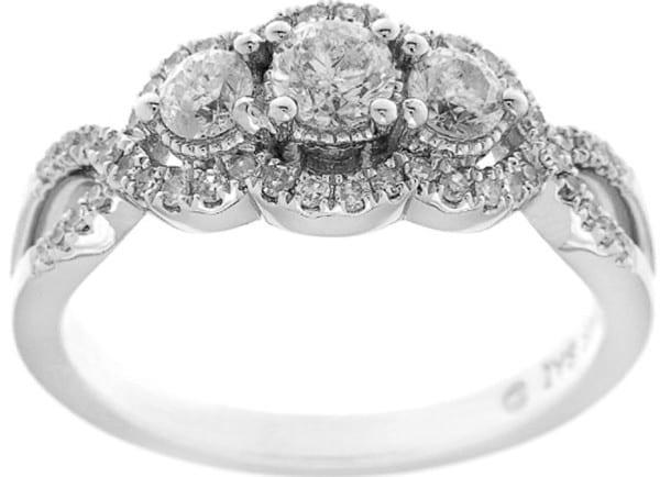 Halo Diamond Engagement Ring black friday