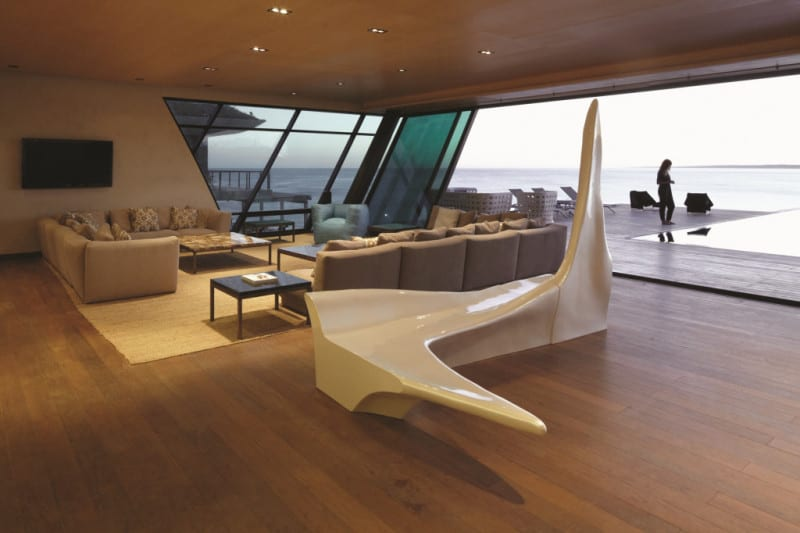Living Room in The Sculpture with Iceberg by Zaha Hadid