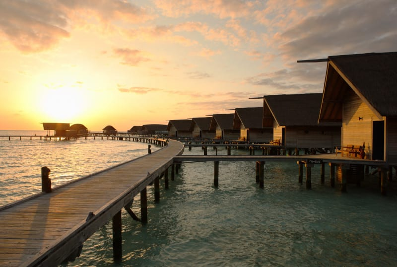 Cocoa Island by COMO Maldives sunset