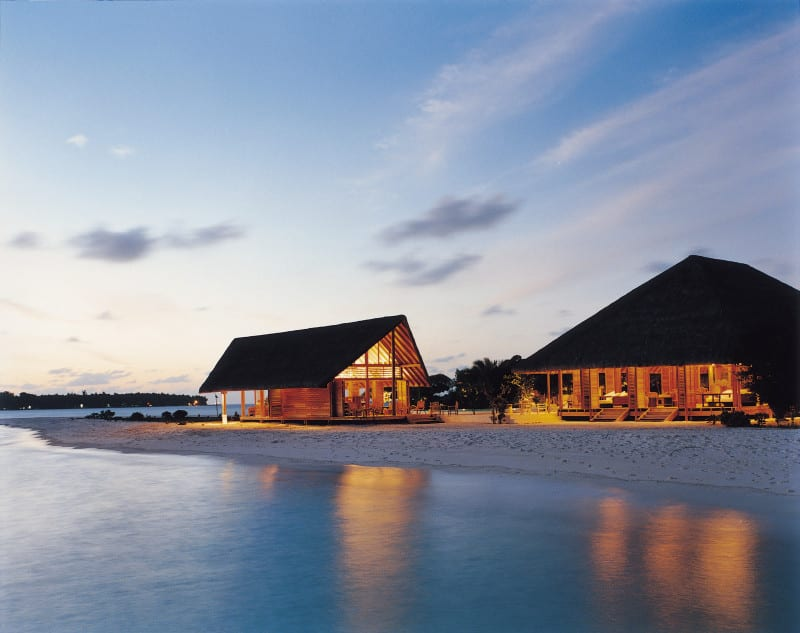 Cocoa Island by COMO Hotel Boats outside