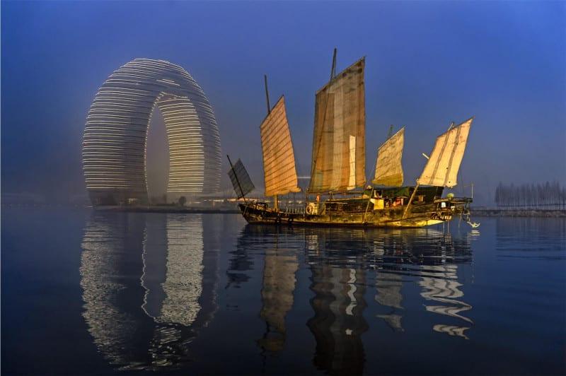 Sheraton Huzhou Hot Spring Resort by night
