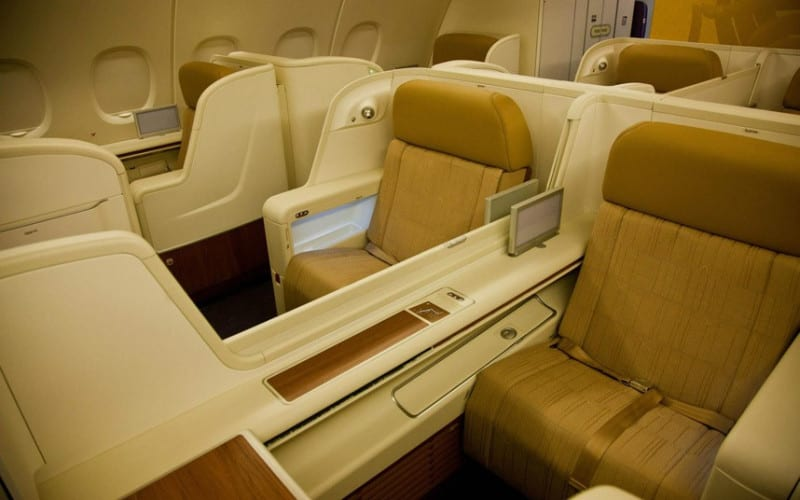 Thai Airways first class seats