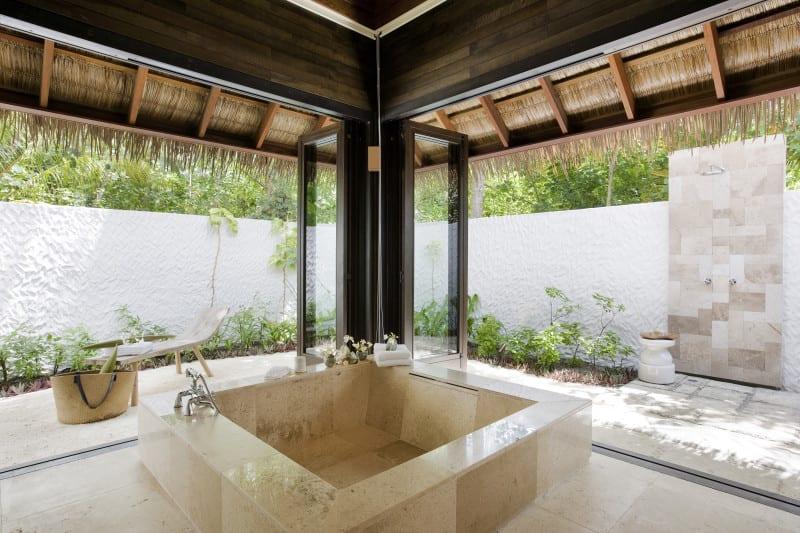 Maldives inside villa bathroom