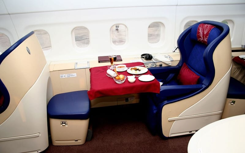 Malaysian Airlines first class seats