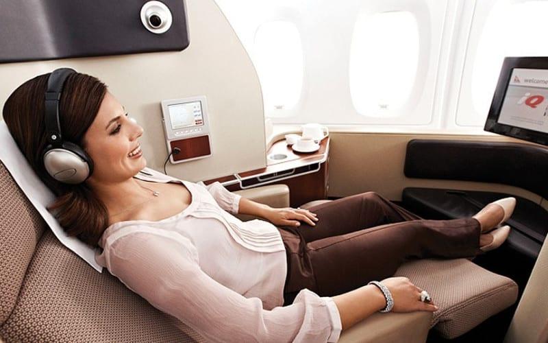 Qantas first class seats