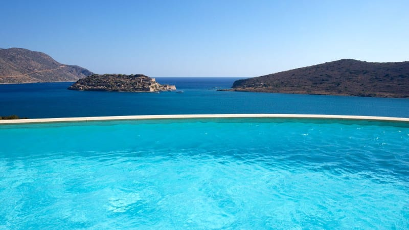 infinite pools Elounda Greece