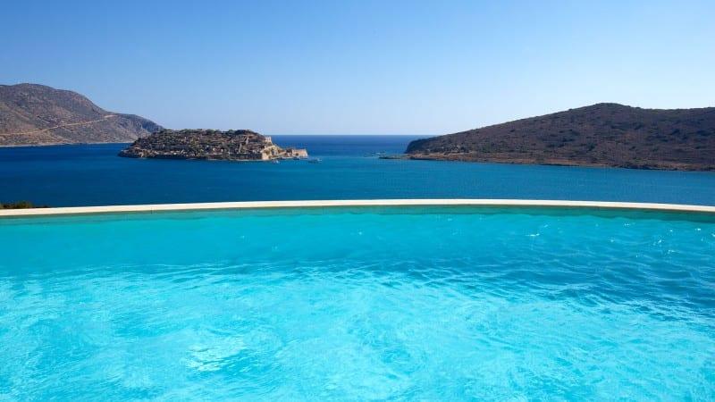 infinite pools Elounda Greece
