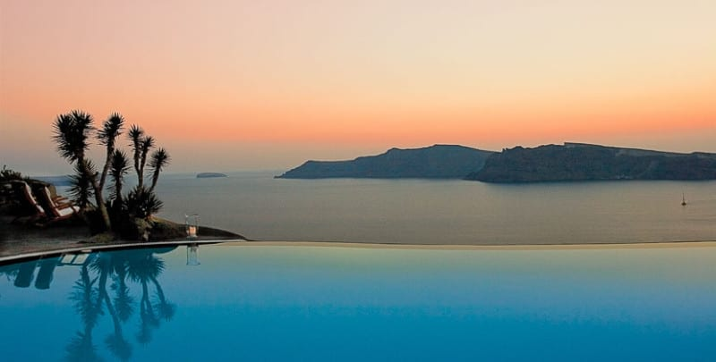 santorini Perivolas outside view