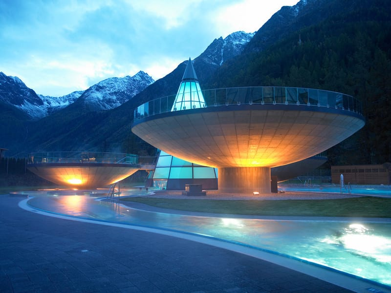 AQUA DOME Austria bowl-shaped pools