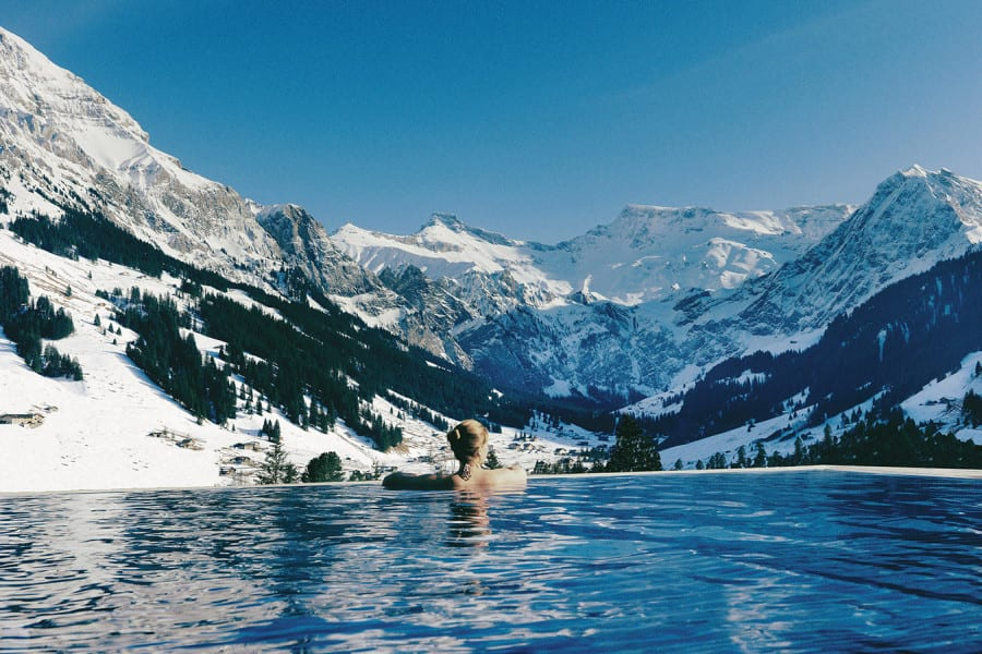 Cambrian Hotel Adelboden Switzerland infinite pool